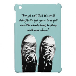 Old running shoes with inspirational quote iPad mini covers