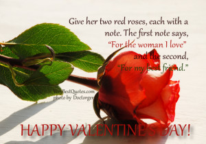 For the woman I love – Happy Valentine's Love Quote for her