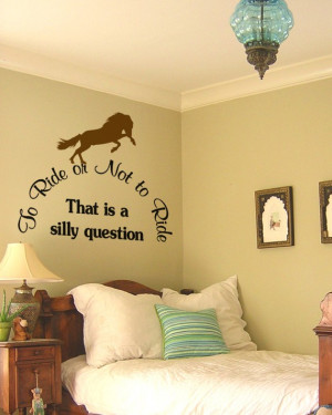 Vinyl wall decal--Cute horse quote sticker--Choose your horse