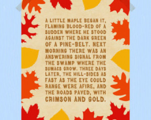 ... Autumn Quote Print Fall Printable Fall Print Fall Foliage Autumn