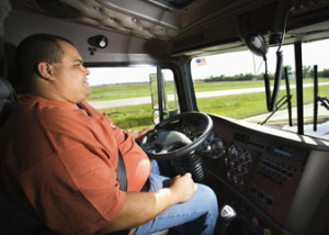 Truck drivers transport goods around the country.