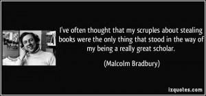 More Malcolm Bradbury Quotes