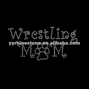 ... sport rhinestone transfer > Wrestling mom rhinestone iron on transfer