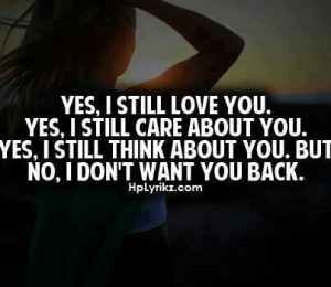 still love you I still care..