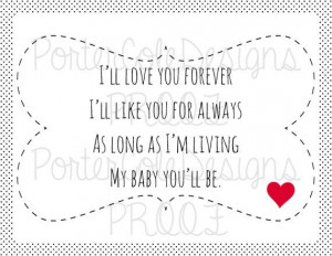 ill love you forever book quotes