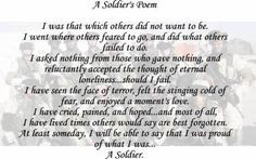 poem by clauspeter quotes to honor fallen soldiers bravery poem ...