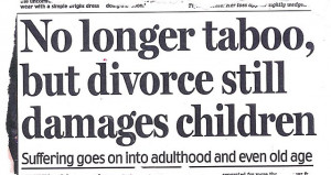 ... families have their say on the effects of their parents' split