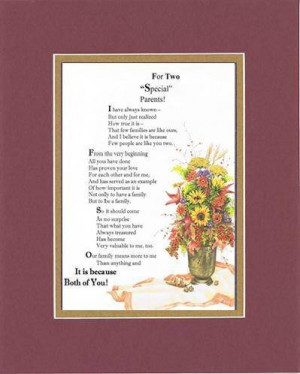 Touching and Heartfelt Poem for Parents - For Two Special Parents Poem ...