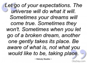 let go of your expectations
