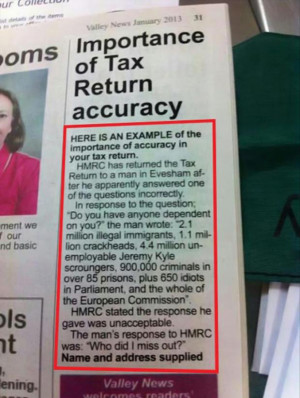 funny tax returns