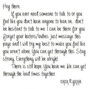 anti bullying quotes | amanda todd, anti-bullying, awesome, cute ...