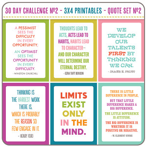 30 Day Challenge ~ Challenge Quotes