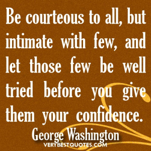 George Washington Love Quotes