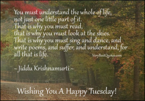 Inspirational Good Morning Tuesday Quotes about life