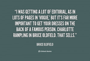 ... of a famous person. Charlotte Rampling in Bruce Oldfield. That sells