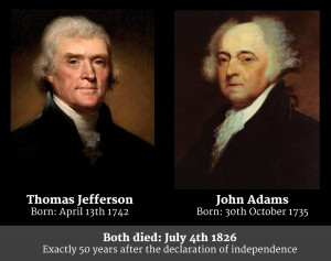 Remarkably Jefferson and Adams, who would both serve as Presidents of ...