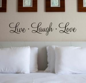LIVE LAUGH LOVE - Wall Quote Sticker - WA104X