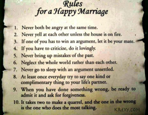 And I leave you with some reflections on marriage: