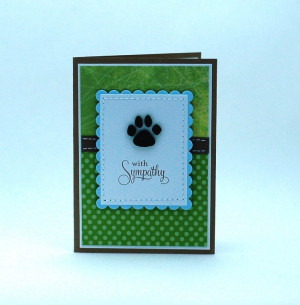 Pet Sympathy Card Paw Print