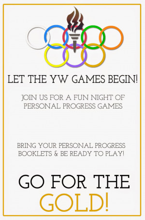 Personal Progress} YW Personal Progress Olympics: Game Night