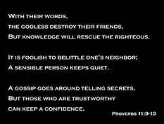 Bible Sayings About Gossip - Bing Images
