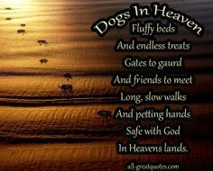 Dogs in heaven quotes | Dogs-in-heaven-fluffy-beds-and-endless-treats ...