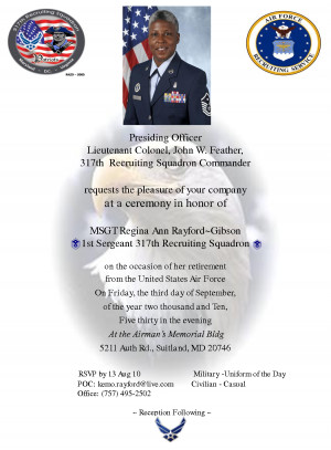 Retirement Invitation Military by khi66326