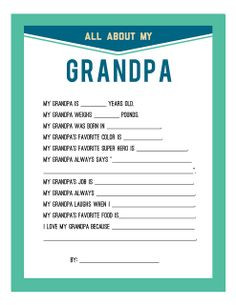 Special Quotes for Grandfathers | Fathers Day Printable |Persnickety ...