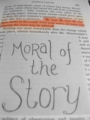 Moral of the Scarlet Letter by TeamCarlisle