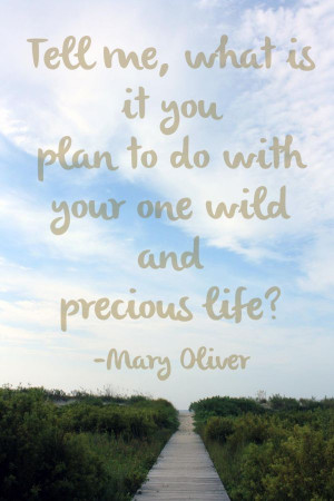 mary oliver quote~ Cute, I may ask my little Michael this....