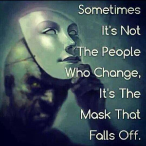The mask falls off