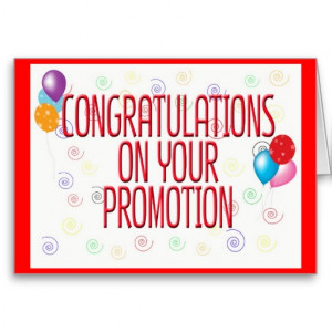 ... on promotion – Congratulations for job promotion 2014