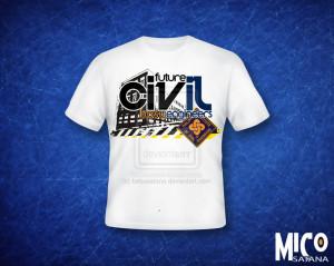 BS Civil Engineering Shirt by bebusatana