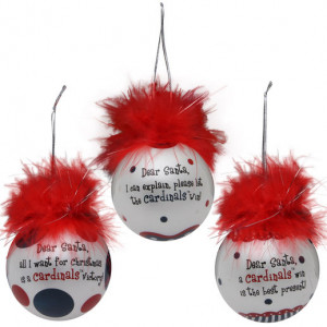 St. Louis Cardinals 3-Pack Team Sayings Ornaments