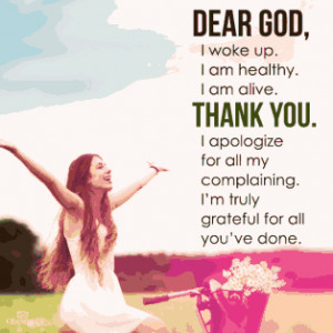... for all my complaining. I'm truly grateful for all you've done