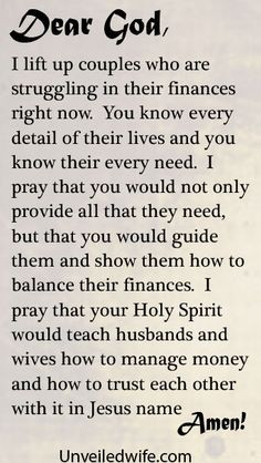 Prayer Of The Day – Financial Peace In Marriage by @Unveiled Wife