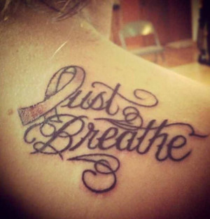 Lung Cancer Tattoo