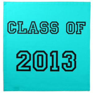 Class of 2013 Neon Blue Senior Graduation Gifts Printed Napkins
