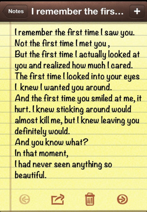 remember the first time I saw you