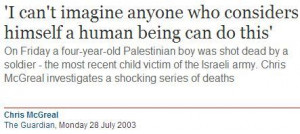The quote, by the father of one of the Palestinian victims named in ...