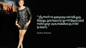 Emma Watson Own Mistakes Quotes Images, Pictures, Photos, HD ...