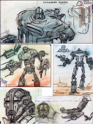 concept art Fallout fallout 3 liberty prime Adam Adamowicz