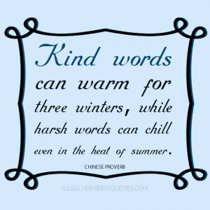 kind words quotes, harh words quotes