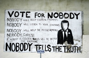 Funny photos funny vote for nobody sign politics