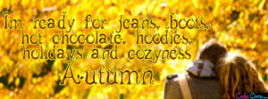 Autumn Quote Facebook Cover