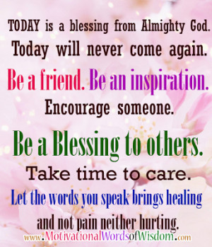 quotes about blessing others quotesgram