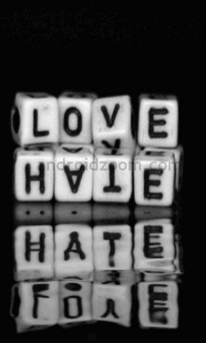 Emo Quote Love And Hate
