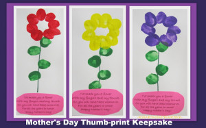 photo of: Mother's Day handprint rhyme, poem for Mother's Day, craft ...