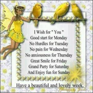 Happy weekend and week