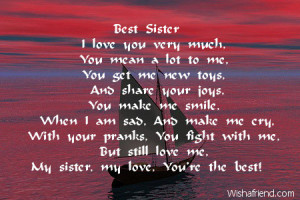 2723 sister birthday poems Friendship Poems That Make You Cry For Best ...